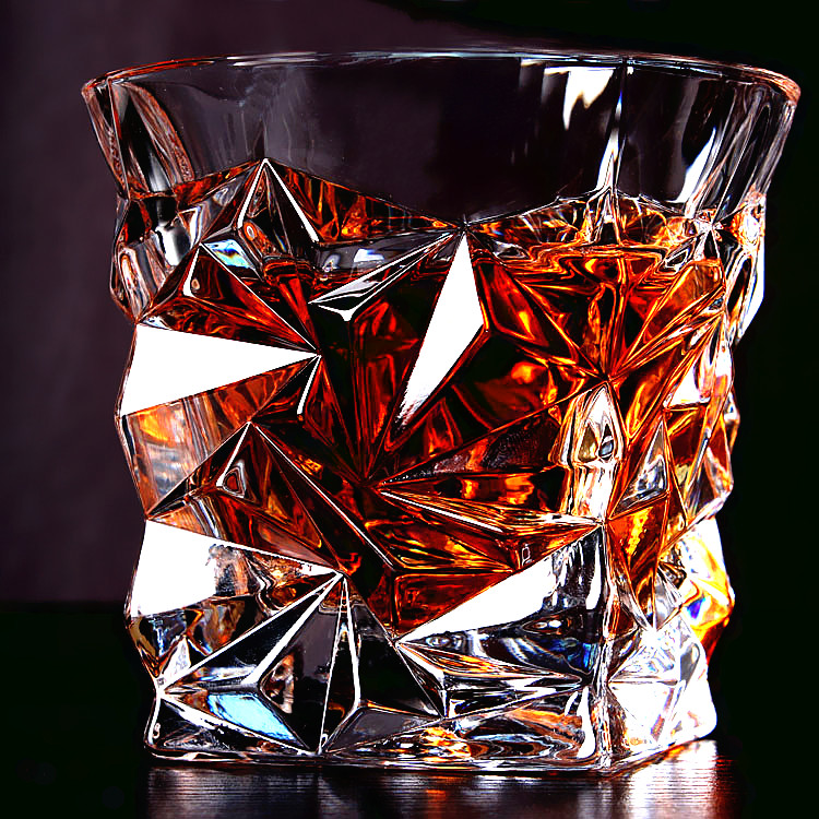 Hot lead-free crystal wine glass cup whisky glass eco-friendly many design glass gift for man free shipping(China (Mainland))
