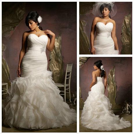 Free shippingnew design 2013 ivory organza ruffle skirt for Mermaid wedding dresses on sale