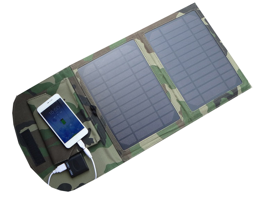 Solar cells charger power bank Portable 10W 5.5v solar charging plate package dual USB output 1.9A current output(China (Mainland))
