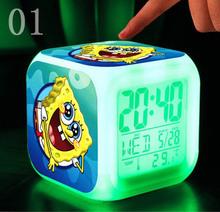 sponge bob spongebob New LED 7 Colors Change Digital bob esponja plush doll Night Colorful Glowing toys Stuffed & Plush Animals(China (Mainland))