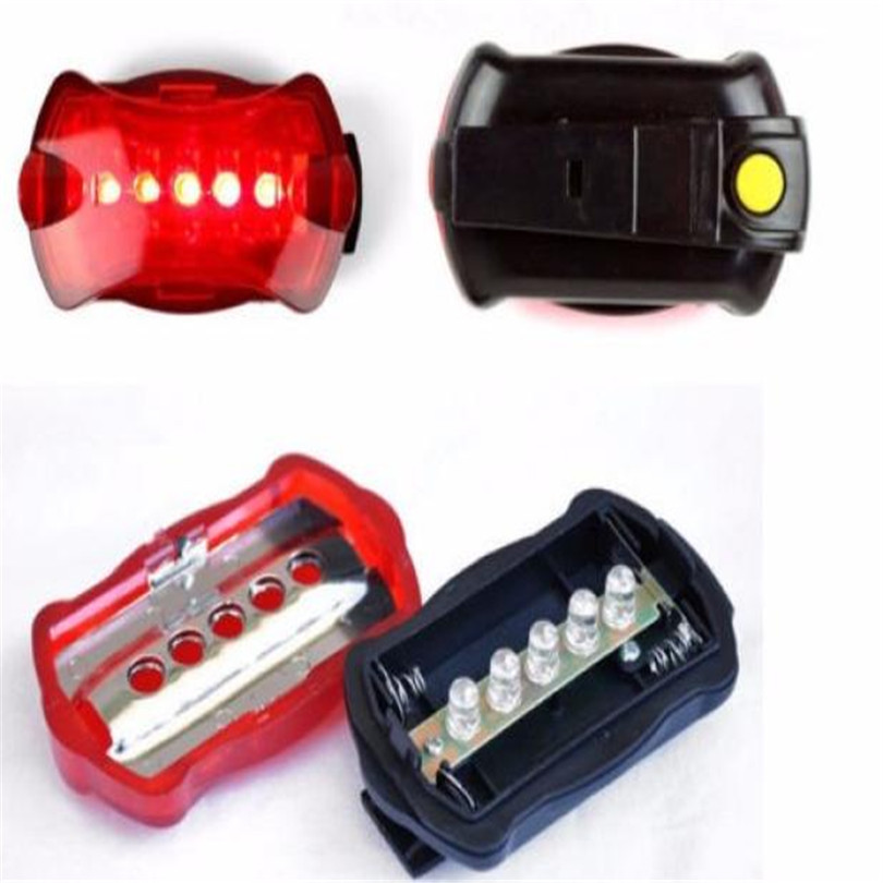 New Bicycle Bike Cycling 5 Led Tail Rear Safety Flash Light Lamp Red With Mount Light Cycling Accessories