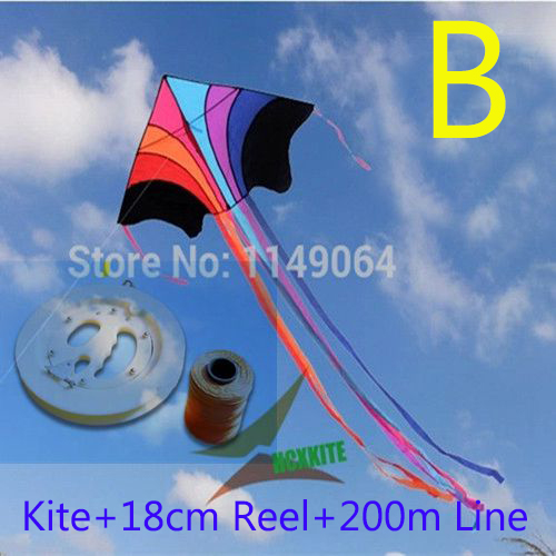free shipping high quality flying rainbow kite with100m handle line kite fabric ripstop kids kites factory chinese kite flying<br><br>Aliexpress