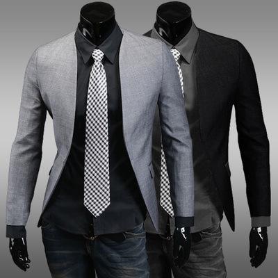 2015 New Hot Sale Regular Polyester Cotton Single Breasted Broadcloth Full Men Blazer Jacket Blazer Masculino