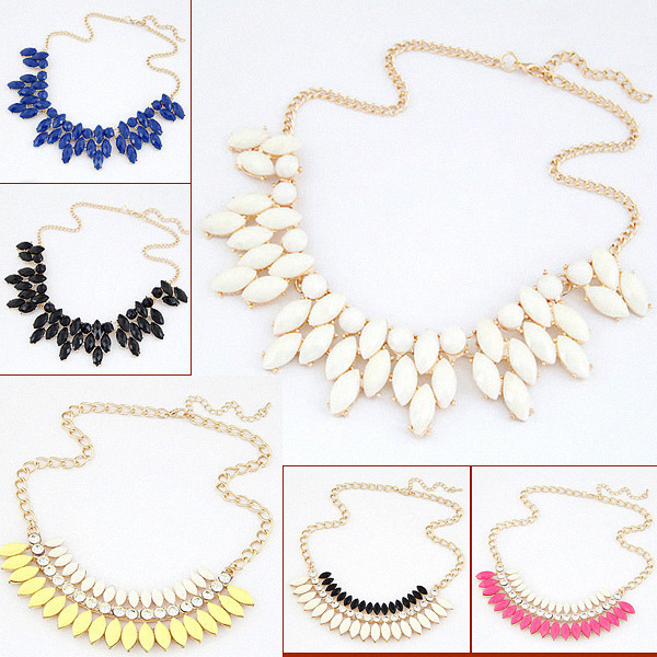 Fine Jewelry Summer Style Collares Statement Necklaces & Pendants Imitated Gemstone Collier Femme for Women Accessories 2015(China (Mainland))