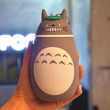 2017 ONEZILI 280ml kawayi Totoro kids stainless steel thermal insulation drinking water bottle cute cartoon shape thermos cup(China (Mainland))