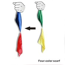New Change Color Silk Scarf For Magic Trick By Mr. Magic Streets Props Tools Toys Gift Randomly Hot Easy To Do(China (Mainland))