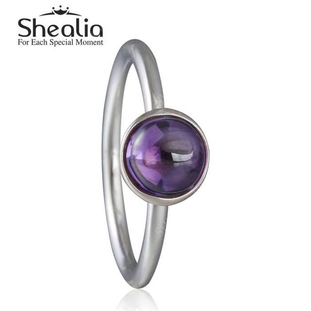 2016 весной новый поэтический капли фиолетовый кристалл кольцо твердые стерлингового серебра 925 пробы вод-падения аметист кольца для женщин ювелирных украшений