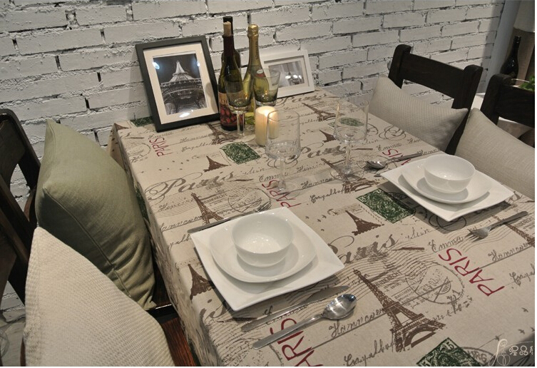 Cotton Linen Fabric Vintage Coffee table tablecloth dining table cloth bar table cloth free shipping(China (Mainland))