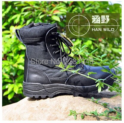 Mens Tactical Police Military Army Boots Zipper Leather boot Men swat winter boots ombat hiker military - LOVE YC Store store