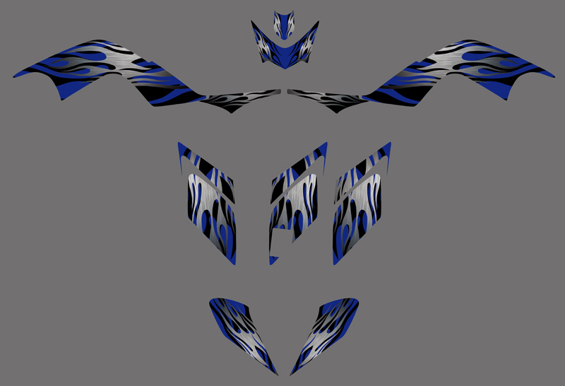 DST0324 blue New STYLE TEAM DECALS STICKERS Graphics Kits for YAMAHA RAPTOR 700 ATV 2006 2007 2008 2009 2010 2011 2012(China (Mainland))