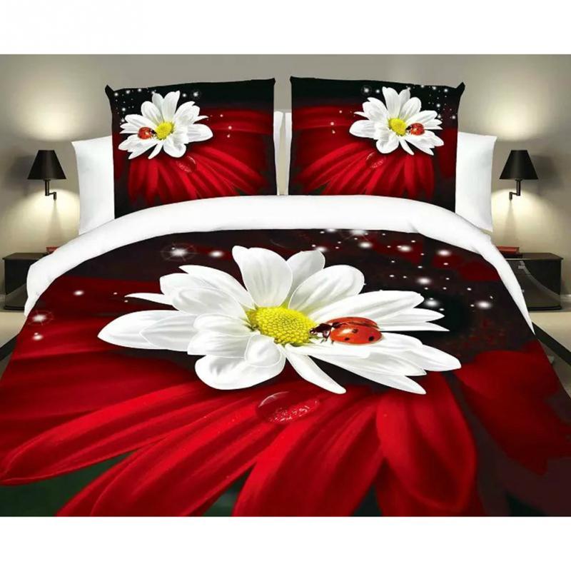 2.5 * 2.7 m 4 pcs draps de lit housse de couette oreiller ensemble de literie Textile de maison 3D impression cheval rouge bleu violet 25(China (Mainland))