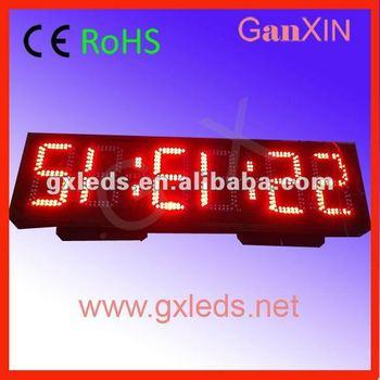 8inch steel frame waterproof  big double sign GPS led digital clock
