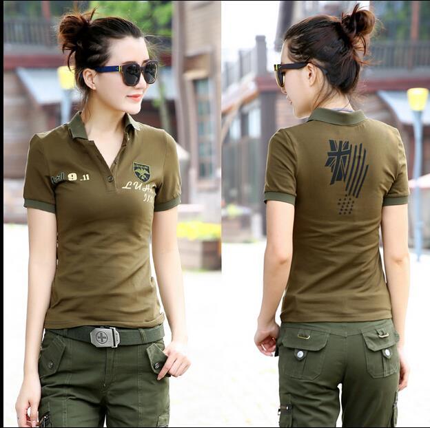 Air parcel 2015 Hot eagle flag camisa polo ralp women polos femme femme polo shirt High Quality 100% cotton SIZE M-3XL
