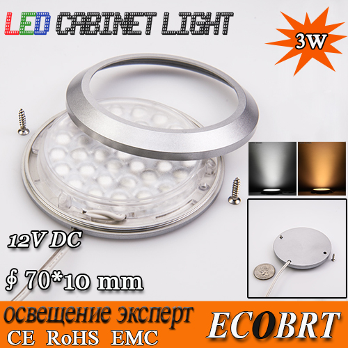 2015 real 20pc/lot free shipping modern 12v 3w led ultra-slim spotlight for home under cabinet/ display/ cove lighting lamp(China (Mainland))