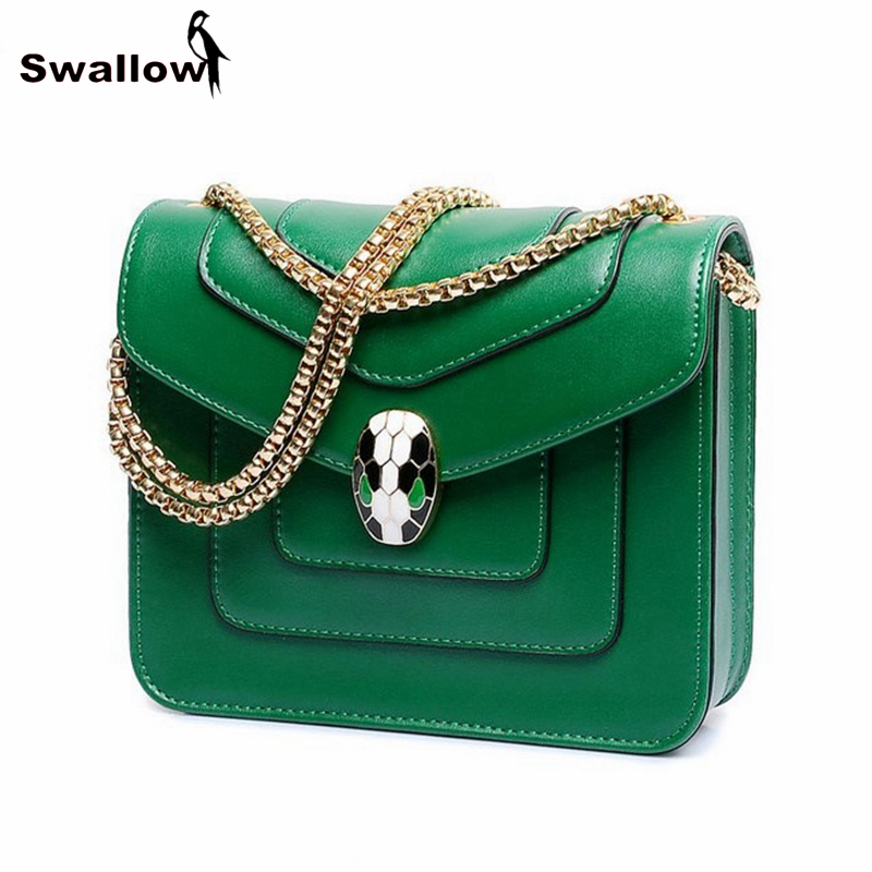 England Style Small Thread Women Bags Messenger Famous Brand With Chain New 2016 Luxury Small Chain Bag Ladies Leather PU Green(China (Mainland))