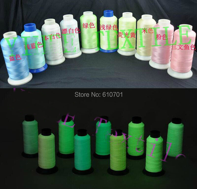 glow in the machine embroidery thread