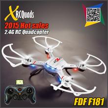 Dfd F181 professionnelle RC Quadcopter Drones avec 2MP caméra HD 2.4 G 6 axe hélicoptère dron Quad copter jouets V.S. JJRC H8C Syma X5C