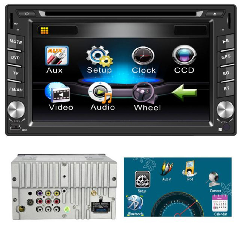 G1 High Quality 6.2inch Double 2DIN In Dash GPS Navi Car DVD Player Bluetooth Auto Stereo Radio 6516 Car-styling Accessories(China (Mainland))