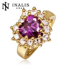 R397 2015 New Ruby Jewelry 18K Gold Ring Fine Jewelry Wedding Rings For Women anillos bague