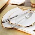 Stainless Cutlery Set Luxury Flatware 24 Pcs Restaurant Retro Vintage Dinning Set Beautiful Dinnerware Set Tableware