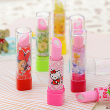 F33 2X Hello Kitty Eraser material escolar material escolar borracha escolar Kid Child Gift lipstick school supplies stationery(China (Mainland))