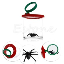 Bug Box Magnify Insects Viewer 2 Lens 4x Magnification Childs Toy Entomologists(China (Mainland))
