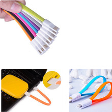 22CM Magnet Flat Short 5Pin Micro USB Data Charger Cable Cord