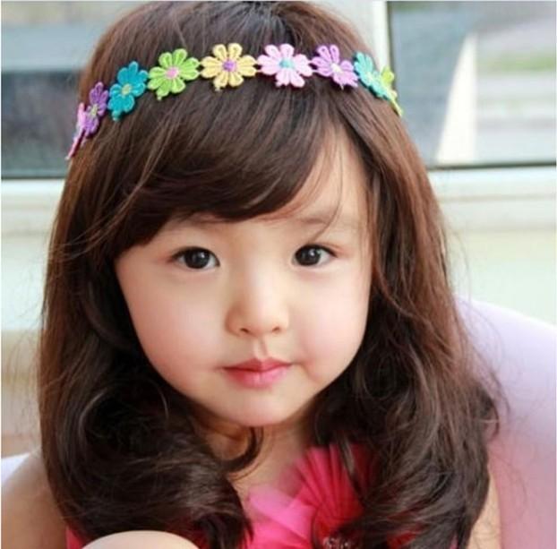 fashion lace flower hairband metal girls sunflower headband flower girl headwear kids Hair Accessories(China (Mainland))