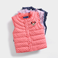 2016 New Girls Baby Cute Winter Children Down Vest Waistcoats Kids Warm Jacket Children Clothes 3