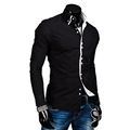 New Fashion Mens Luxury Casual Stylish Slim Fit Long Sleeve Casual Dress Shirts MAPP04218