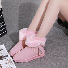 Warm Winter Snow Boots Bowtie Rabbit hair Boots Flock Inside Platform Ankle Boots Casual Flats Comfortable Shoes Woman shoes(China (Mainland))