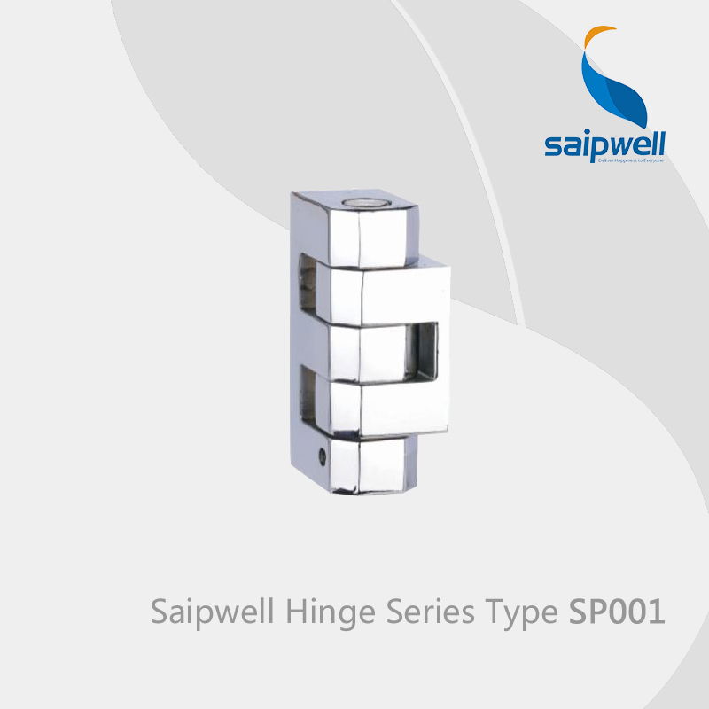 Saipwell frameless glass cabinet door hinge CE&RoHS SP001 in 8-PCS-PACK(China (Mainland))