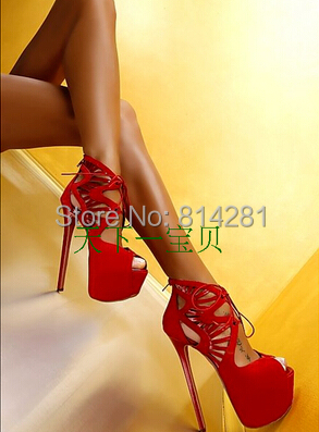 new arrival fashion show shoes silla rulers cut-out women platform lace up peep toe shoes(China (Mainland))