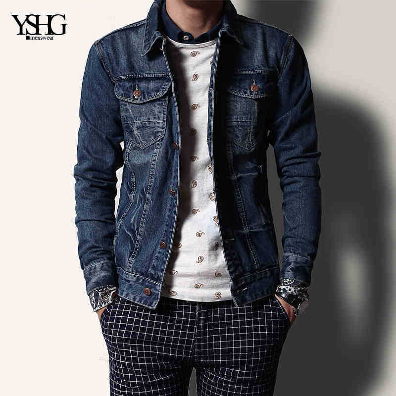 2015 New Hot Spring Autumn Men Denim Jackets Slim Outerwear Coat Cotton Slim Casual Plus Size 2XXL Brand Frazzle Short RetroОдежда и ак�е��уары<br><br><br>Aliexpress