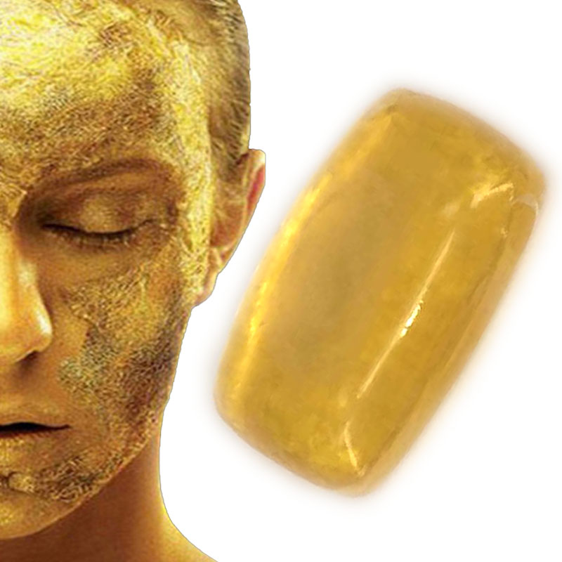 38g Gold soap Revitalizing Repairing Beauty 24K Facial Cleaning Soap Face Care Whitening Skin natural handmade bath soap(China (Mainland))