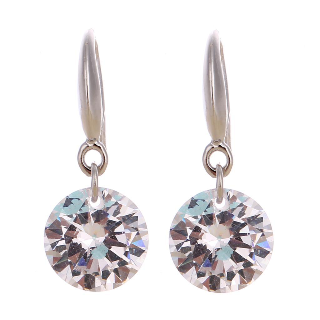 Гаджет  Classic Women Jewelry Drop Earrings Big Crystal Dangle Earrings Sterling Silver Long Earrings 2015 Summer Style None Ювелирные изделия и часы