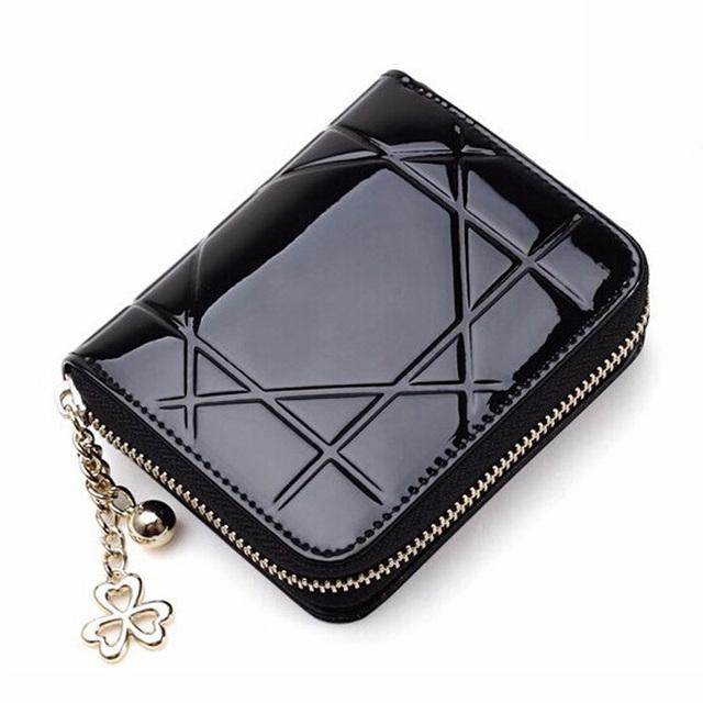 2015 женщины кошелек кожаные портмоне мода маленький кошелек женщин мини-молния бумажник ...