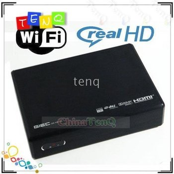 1080P Full HD HDD Media Player connect SATA Harddisk directly GIEC GK-HD220  support online video