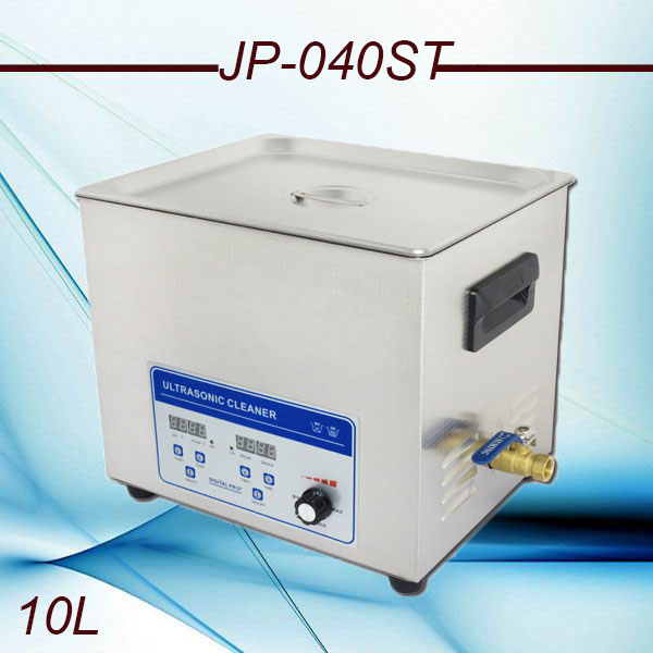 Promotion JP-040ST Adjustable power Ultrasonic Cleaner 10L for cleaning Equipment Stainless Steel Machine with free basket(China (Mainland))