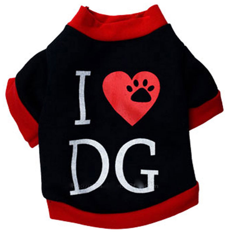 brand dog clothes printed Pet clothing T-shirt vest coats costumes jacket spring summer for small dog hunde vetements pour chien(China (Mainland))