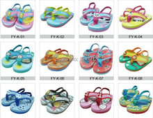 Heißen neuen Sommer cartoon rutschfeste kinder eva badeschuhe Flip- flops kinder pantoffeln kinder sandalen für babys Jungen Mädchen schuh(China (Mainland))