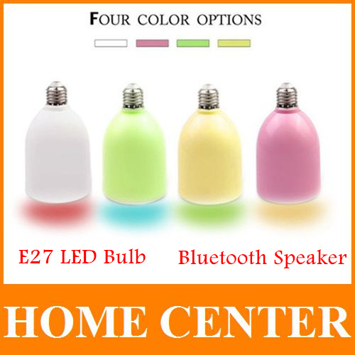 Wireless Bluetooth Speaker E27 LED Light Bulb Stereo Surround Music Sound Box Speaker for iPhone iPad Samsung Galaxy(China (Mainland))