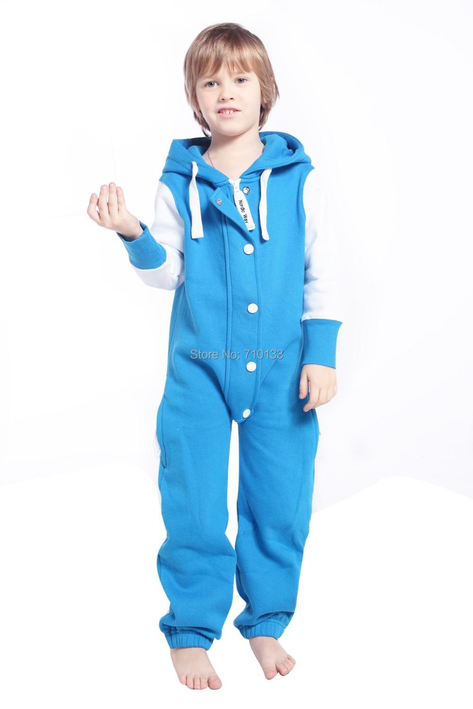 Kids Childu0026#39;s Childrenu0026#39;s One Piece Jumpsuit Zip Hoody Fleece Onesie Playsuit Tracksuit For ...