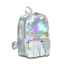 2015 Hotselling Fashion Hologram Backpack For School Student  Women's Laser Silver Color Holographic Bag(China (Mainland))