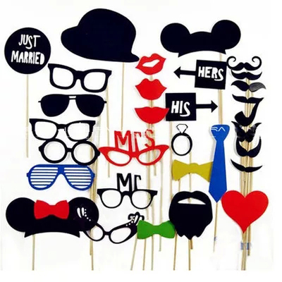 31pcst DIY Mask Wedding Decoration Photo Props Hat Mustache On A Stick /Party Favors For Home And Club As Gift For Friends B2(China (Mainland))