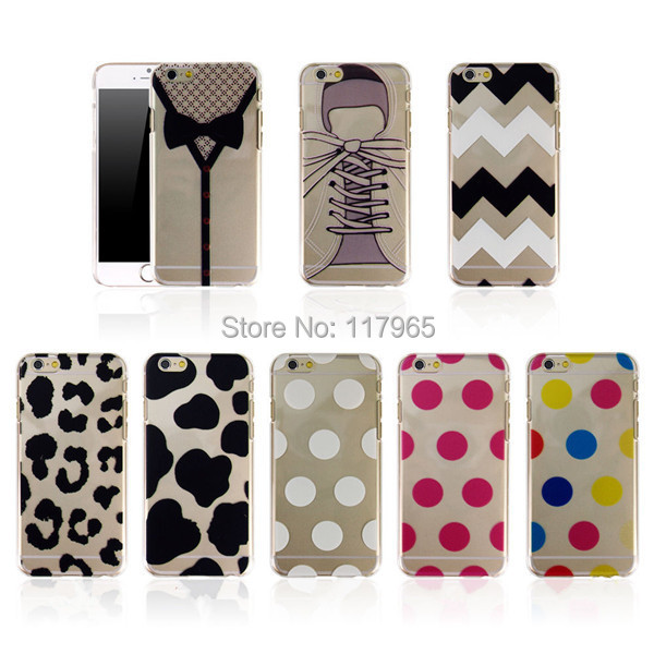 Ultra Thin slim Striped dot painted design Pattern Hard Back Skin Case Cover IPhone 6 Plus Plastic phone Cases EC352/EC353 - xycharm store