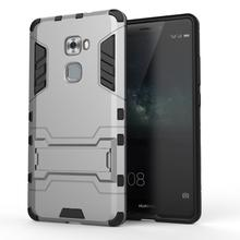 Funda For Huawei Mate S Coque Rugged Rubber Hybrid Hard Plastic Case For Huawei Mate S Case Cover With Holder Stand  }