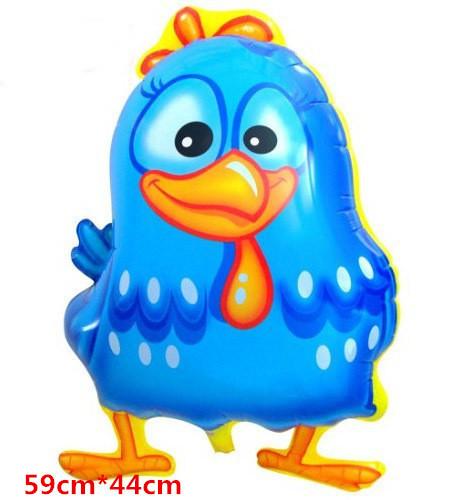 10pcs/lot 44*59CM Cartoon Chicken Balloons Galinha Pintadinha Shape Foil Balloons Baby Toy Globos For Kids Factory Price Balloon(China (Mainland))