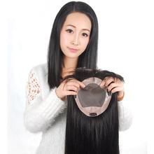 100% настоящие волосы накладки для женщин естественный цвет парики маленький средний большой женщины парики руки связали частей бесплатная доставка