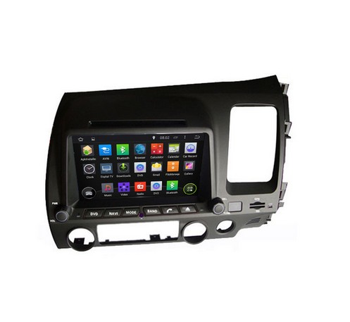 ROM 16G 1024*600 Quad Core Android 5.1 Fit HONDA CIVIC right driving 2006 20072008 2009 - 2011 Car DVD Player DVD GPS 3G Radio(China (Mainland))